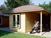 Summerhouse duo with carport