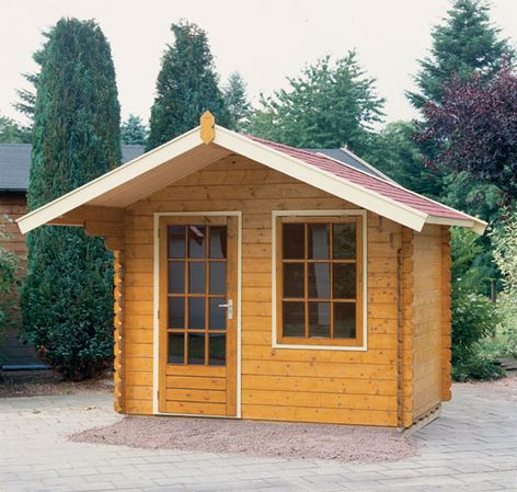 Amsterdam pine log cabins from Lugarde