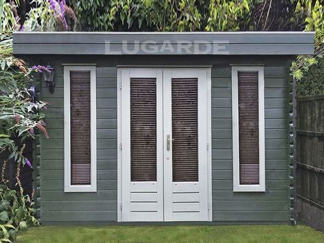Bruges flat roof log cabins from Lugarde