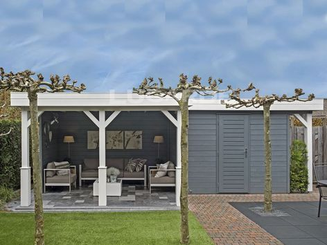 Lugarde Prima Elizabeth flat roof summerhouse with canopy