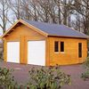 Kent wooden double garages