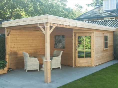 Lugarde Prima Leo flat roof summerhouse with canopy