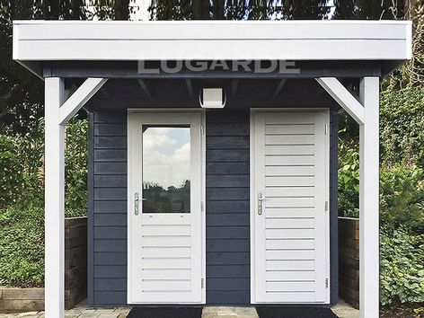 Lugarde Prima Noah flat roof summerhouse with canopy