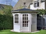 250cm octagonal summerhouse with shallow roof 2.5m