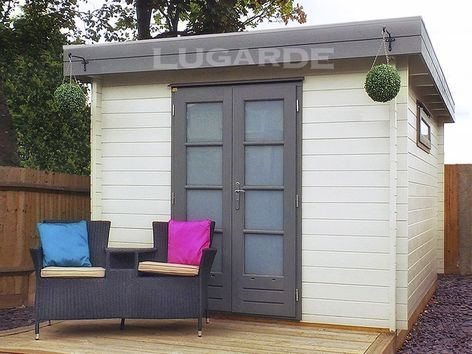 Vermont flat roof log cabins from Lugarde