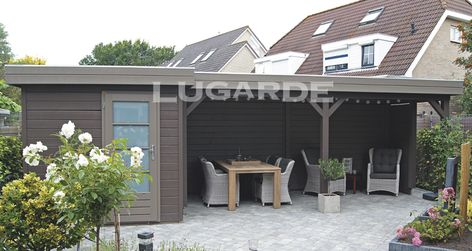 Lugarde Prima Willow flat roof summerhouse with canopy